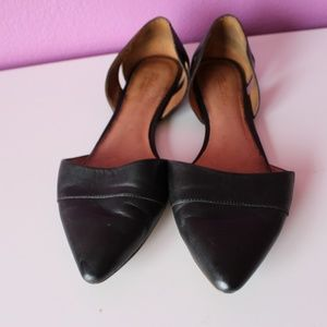 Madewell D'orsay Black Flats, size 9.5 M